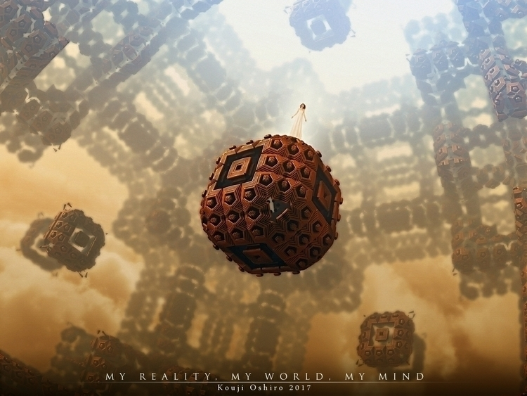 reality, world, mind - 3d, mandelbulb3d - koujioshiro | ello