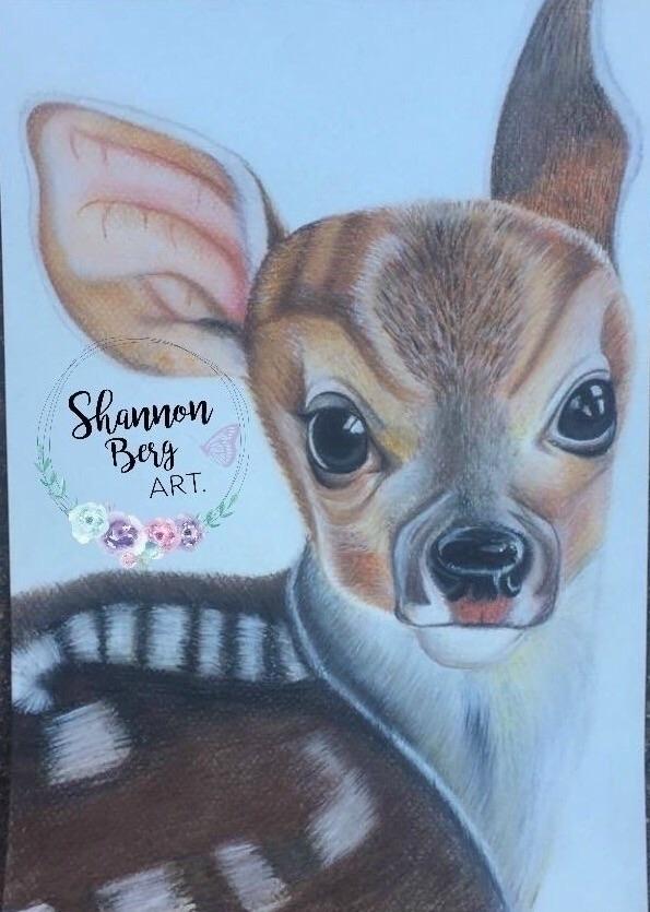 cute fawn drew learning pastels - shannonbergart | ello