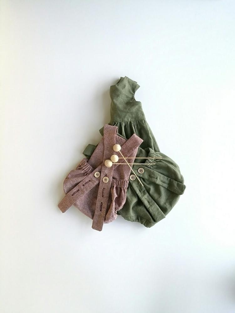Winter colours moss green rompe - purebabe | ello