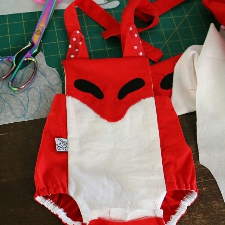 fox rompers sewn cute - wip - izbitsworld | ello