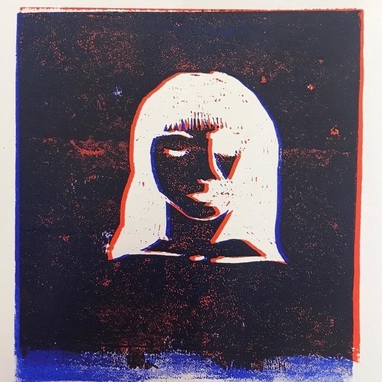 Linoprint trial. colour favouri - isabellamoerk   ello
