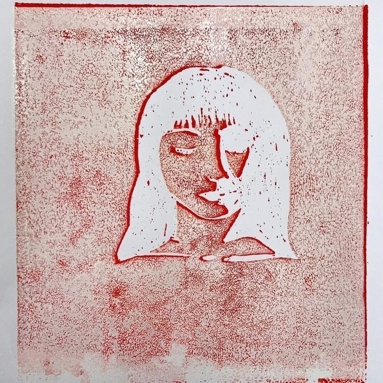 Linoprint trial. 2017 - isabellamoerk | ello