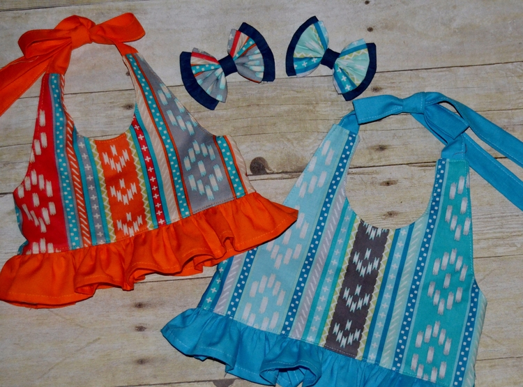 Orange Blue Ganesha Stripe halt - kattskreations | ello