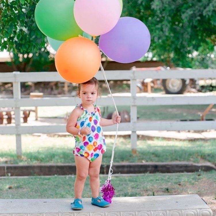 Rainbow Balloons romper looked  - littlelakethreads | ello