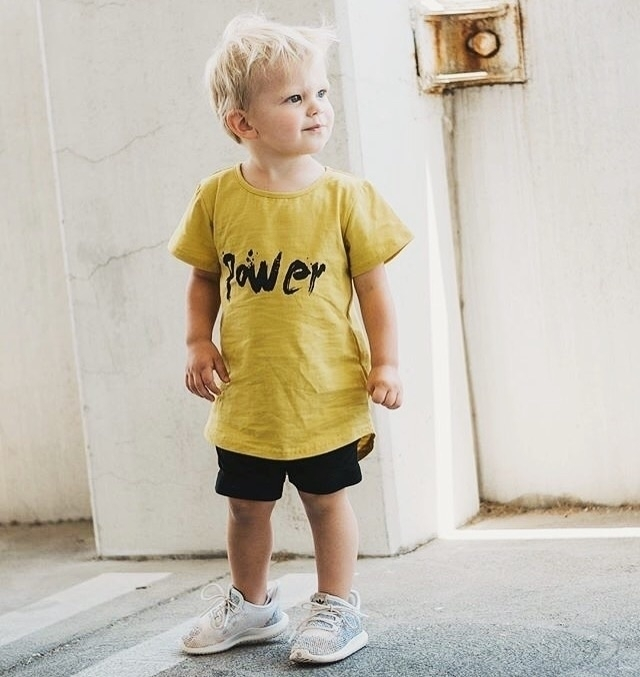Handsome Kash POWER tee:yellow - littleryderclothing | ello