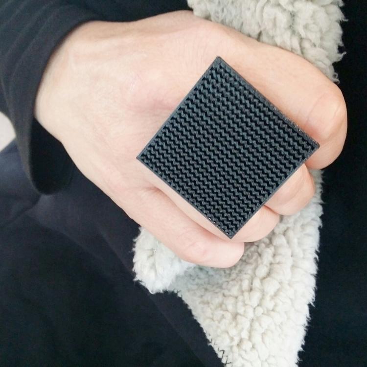3d printed black Square Ring bo - nooshjewellery | ello