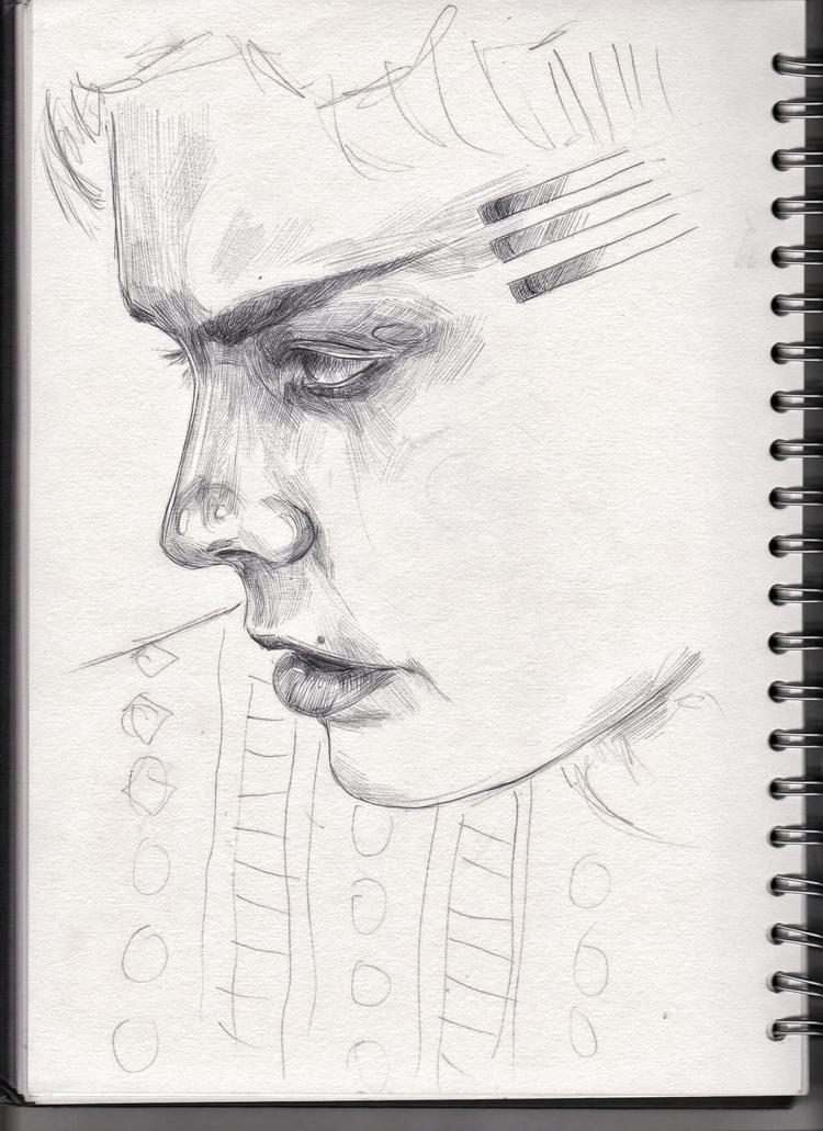 sketchbook, sketch, art, portrait - wwiktoria | ello