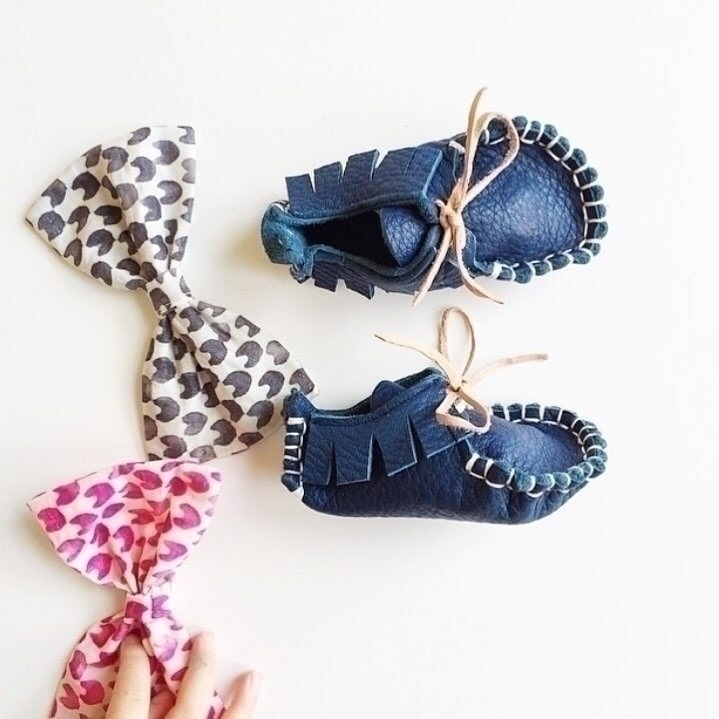 Hand sewn baby Leather Loafers  - mumma_ptyltd | ello