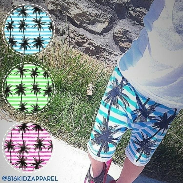 Palm Stripe Harems - shopsmall, smallshop - 816kidzapparel | ello