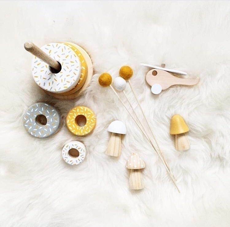 Mustard Donut Stackers . 6 wond - _lovetildy_ | ello