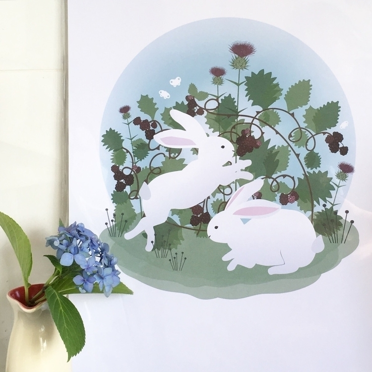 Sweet bunnies illustration - bunny - becski | ello