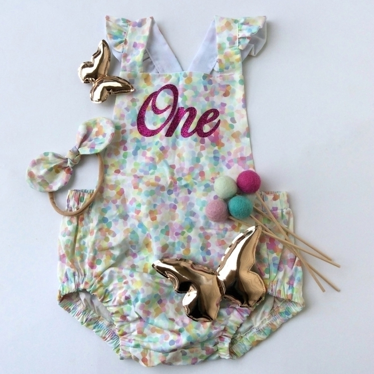 custom romper matching headband - pumpkin_and_chunk | ello