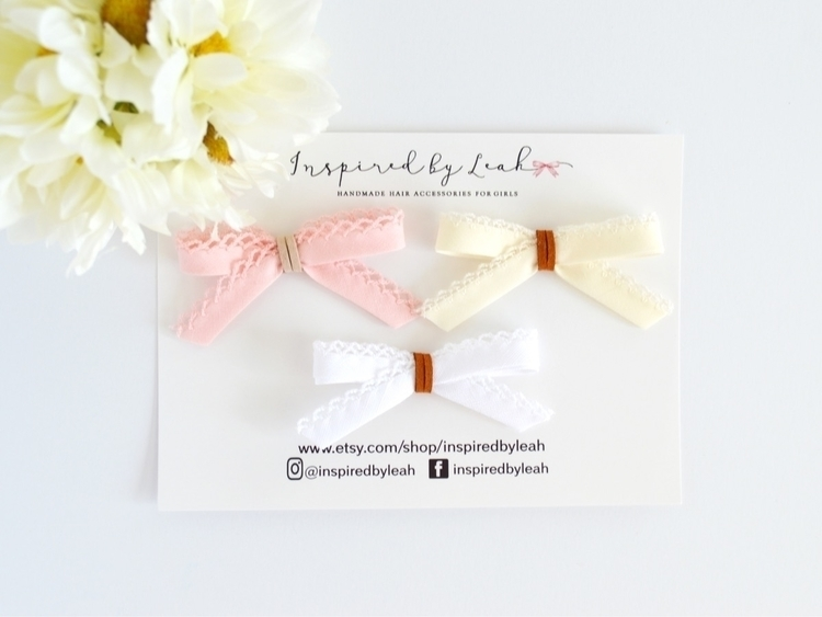 Beautiful delicate bows pink, i - inspiredbyleah | ello