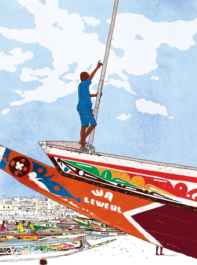 Senegal travel illustrations. Y - digitalillustrationworks | ello