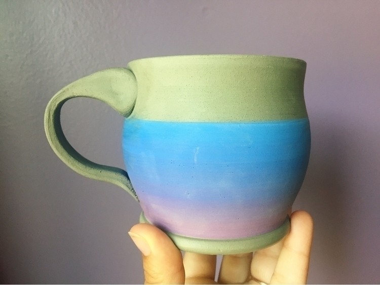busy making fun ombré mugs! exc - earthenroots | ello