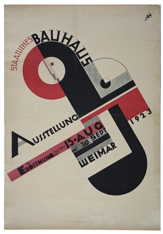Joost Schmidt - 1923 - Poster, Bauhaus - bauhaus-movement | ello