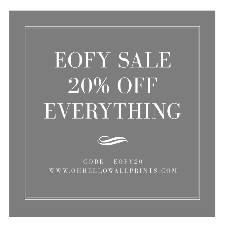 love Sale! 20% code EOFY20 - sh - ohhellowallprints | ello
