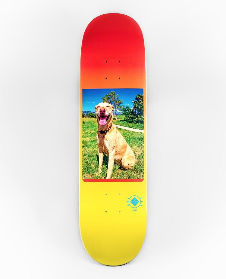 'Stoked Dog' artwork Chris Morg - scienceskateboards | ello