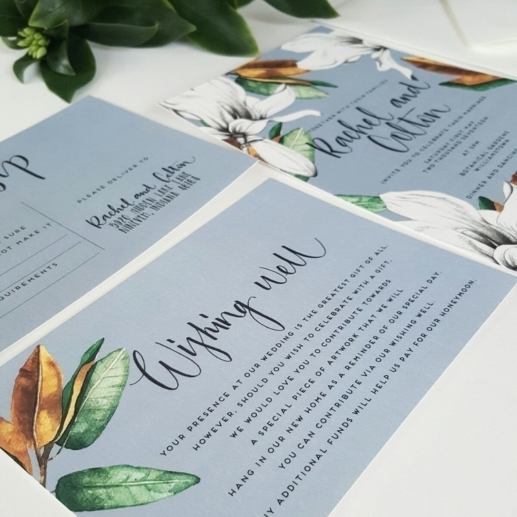 Magnolia lovers duck egg blue - paperandstyleco - paperandstyleco | ello