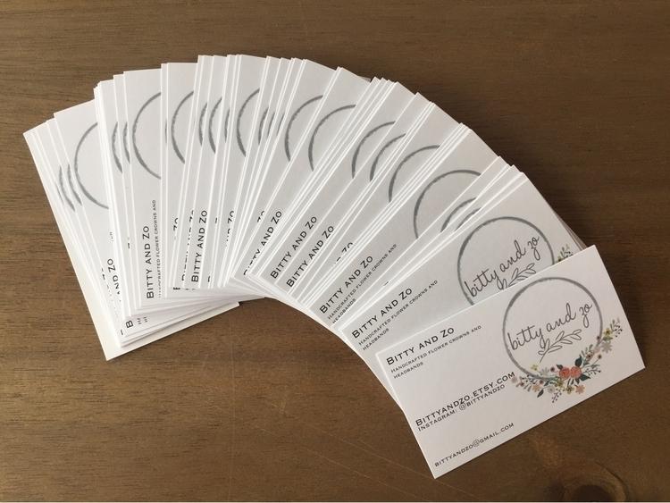 Brand spanking business cards - flowerheadband - bittyandzo | ello