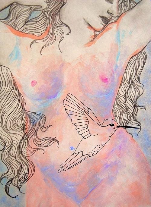 Land Venus (mixed media paper)  - artlilliums   ello