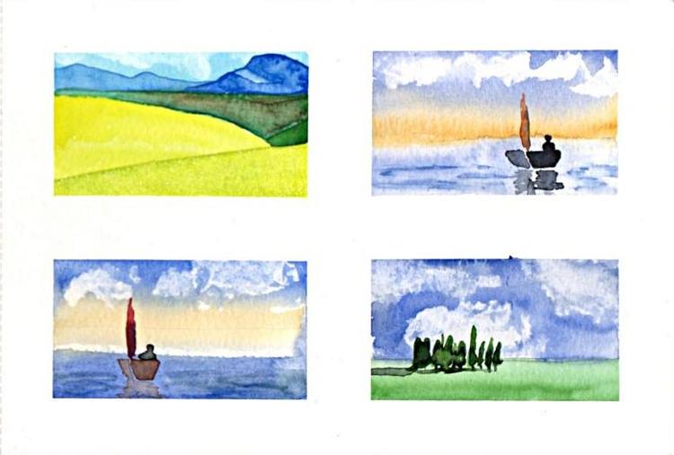 Miniature watercolours - duvenhage | ello