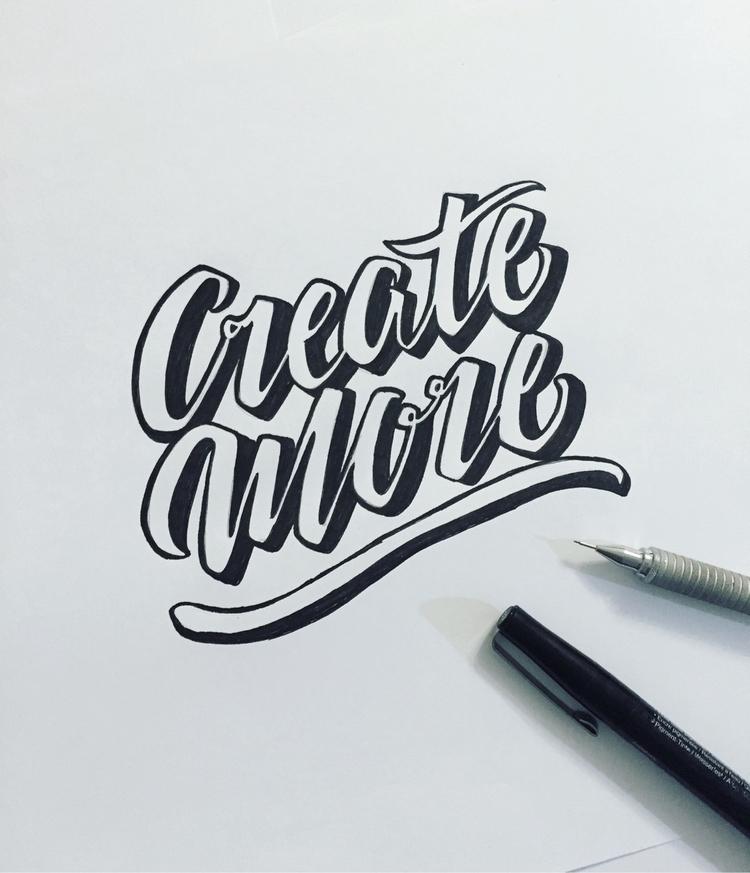 Create - lettering, design - karisc   ello