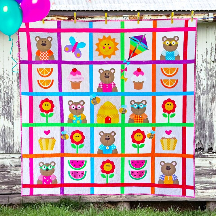Teddy Picnic. quilts patterns b - theredbootquiltco | ello