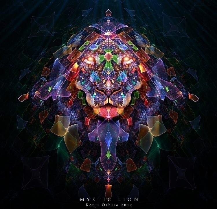Mystic Lion - mystic, lion, spiritual - koujioshiro | ello
