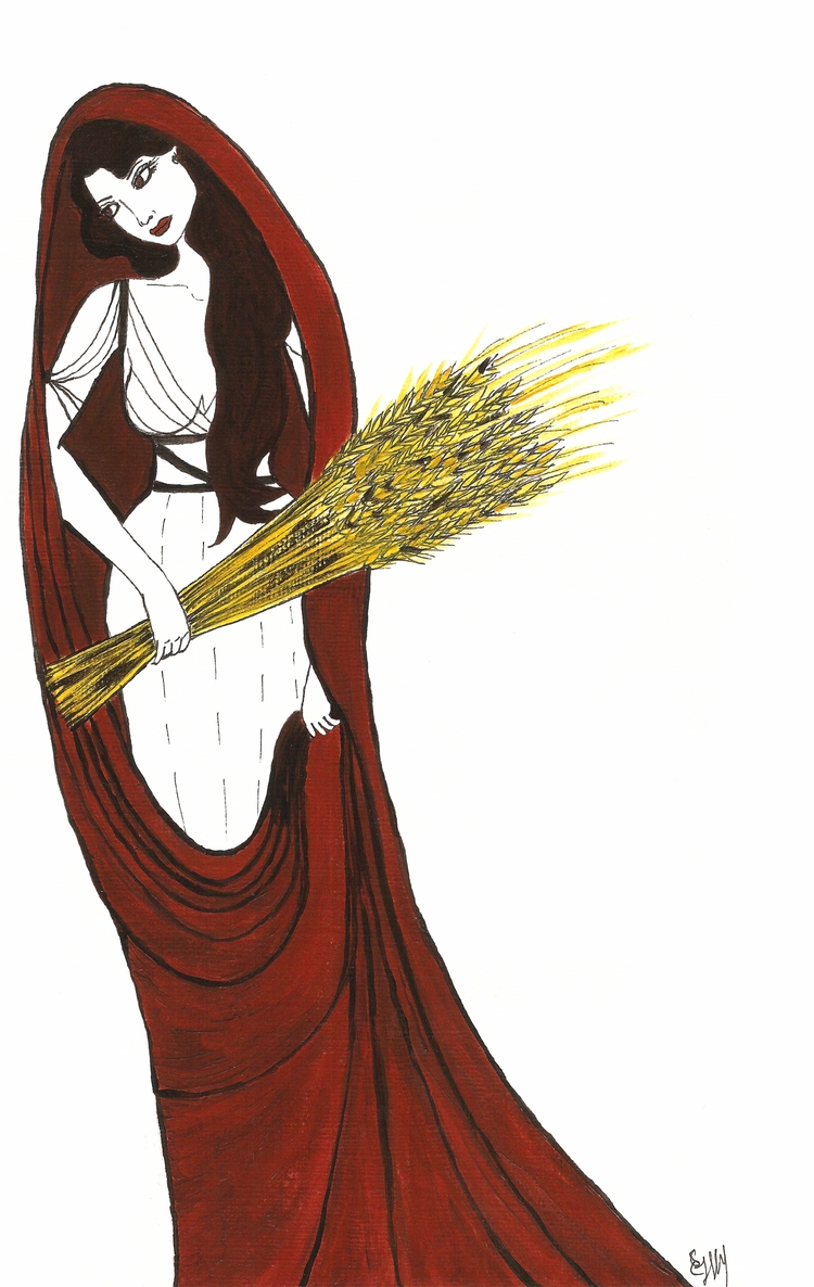 Lady Demeter, Earth Mother eart - haleh_creates | ello