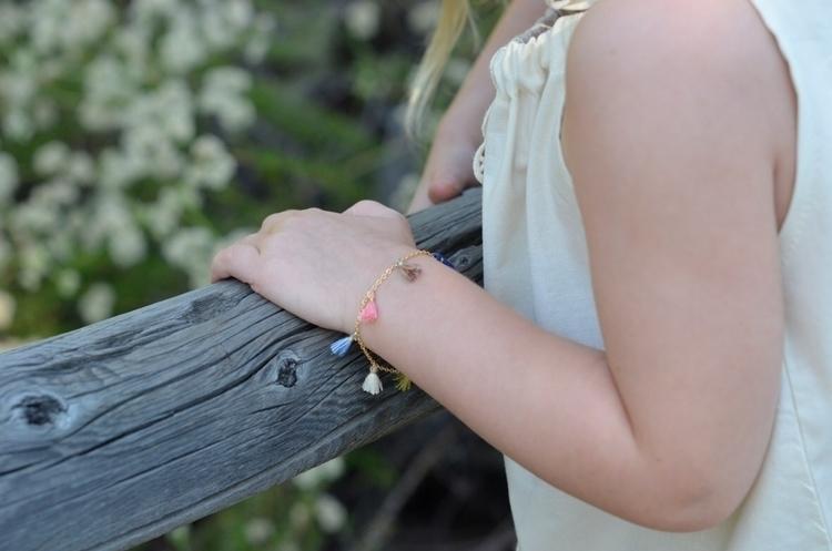 tassel charm bracelet ordered a - harperaugust   ello