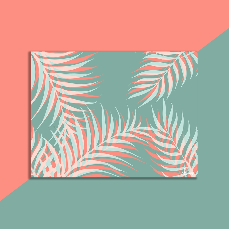 Palms Vision Digital painting c - designdn | ello
