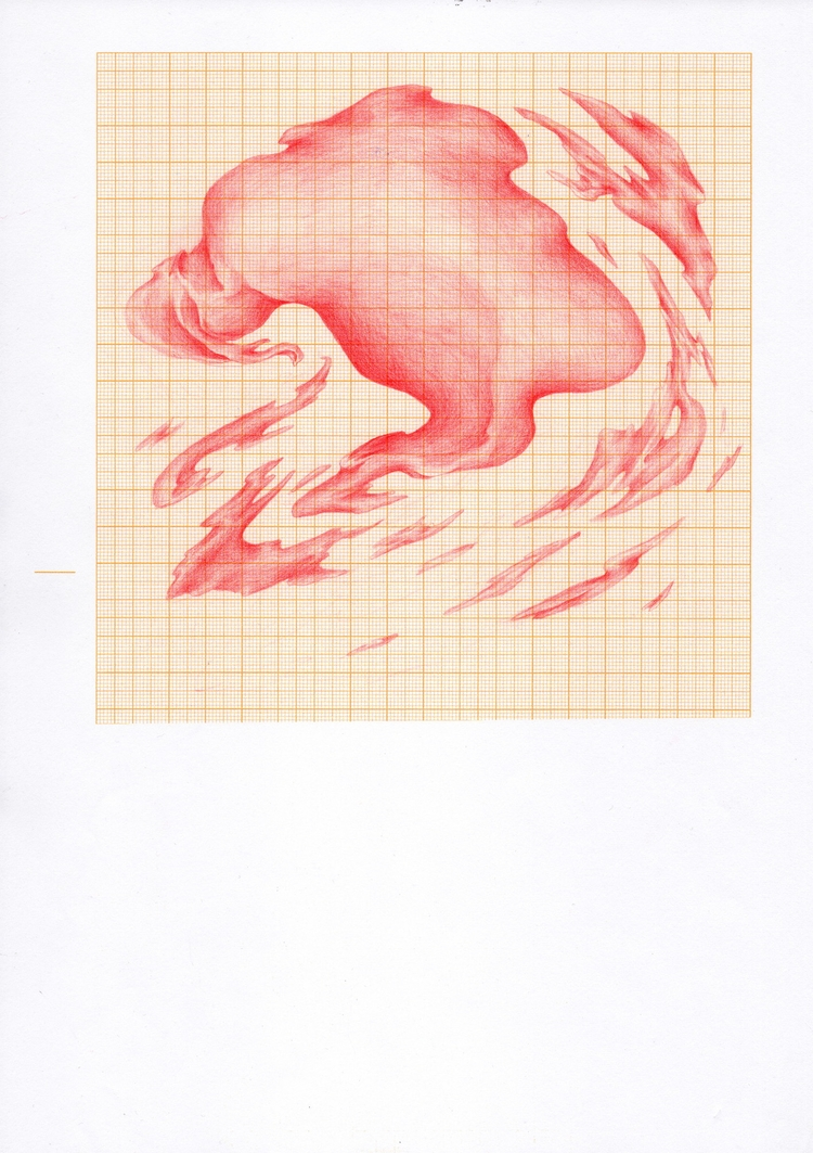 fluid - drawing, pencil, millimeterpaper - zaiw | ello