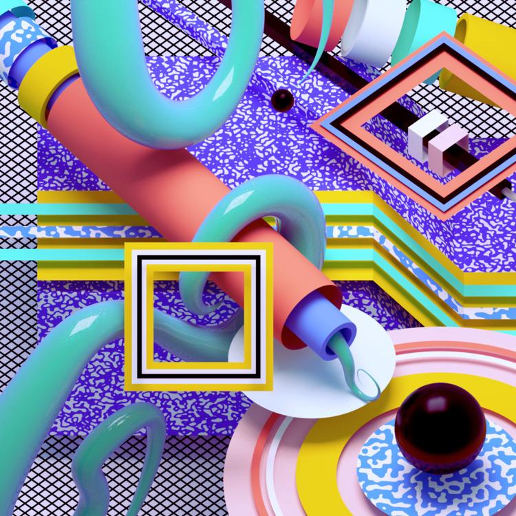 b3D, abstract, 3D, design, digitalart - ikiste | ello