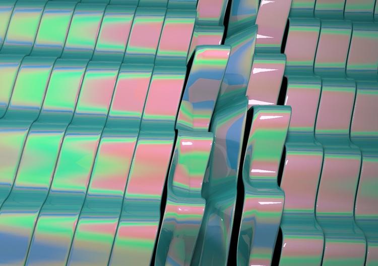 Iridescence - Art, Abstract, Digitaldecade - tezmoreno | ello