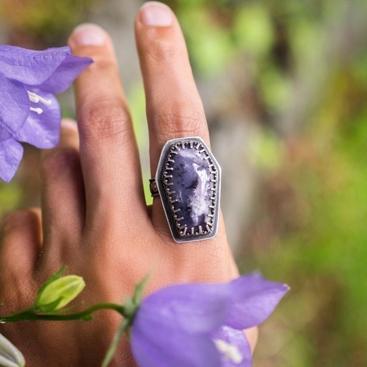 Custom Amethyst Sage Agate coff - starstrungjewelry | ello
