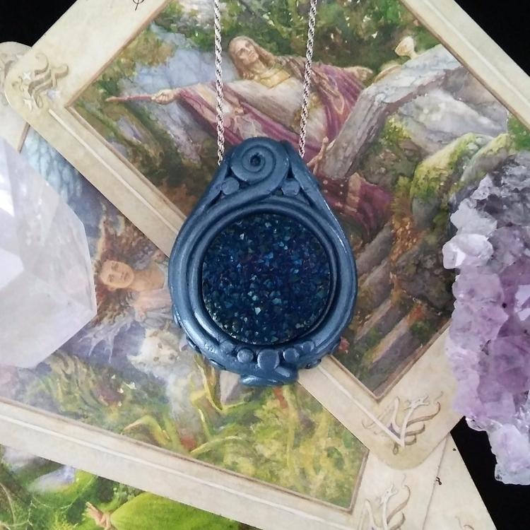 Handmade druzy pendant etsy - handmade - hyrulian_creations | ello