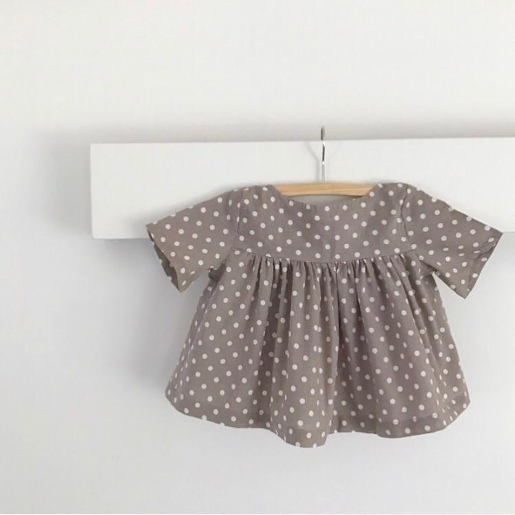empire blouse latte polka dots - bluedaisywares | ello