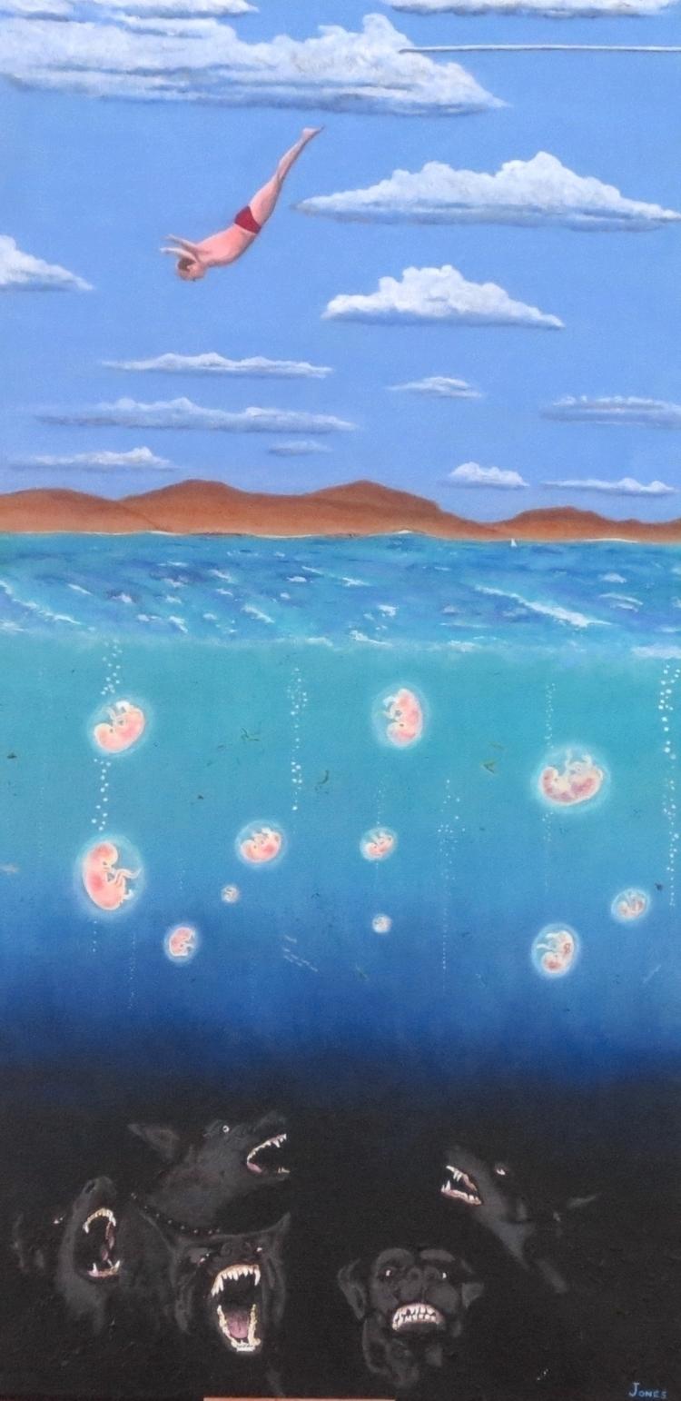 Regression (Deep Diver) acrylic - teragram1 | ello