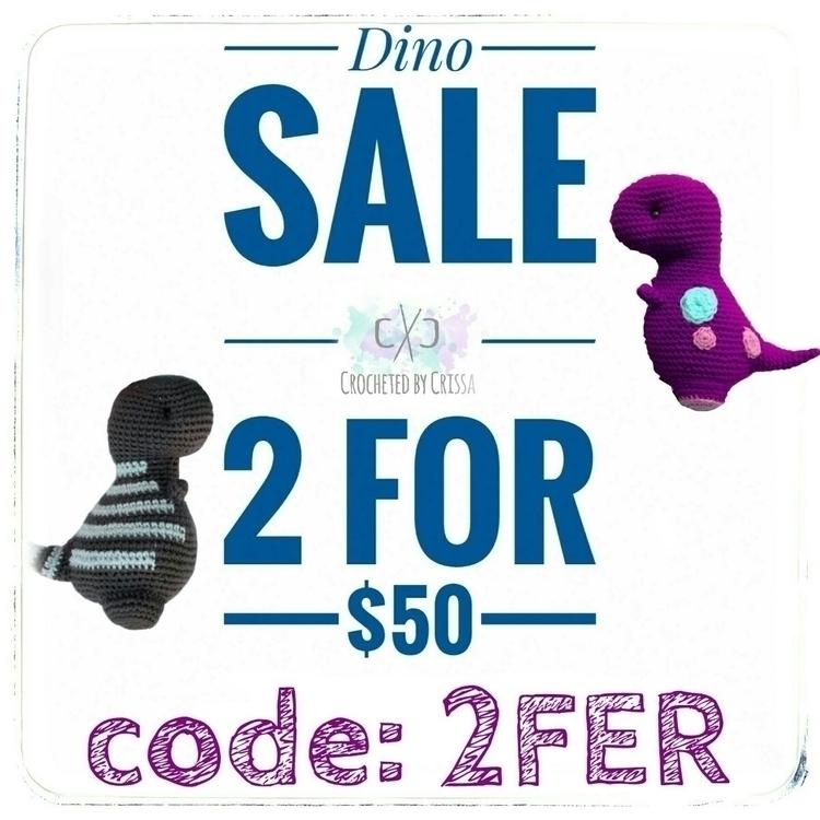 |Calling fans| sale!!! 2 dinos  - crochetedbycrissa | ello