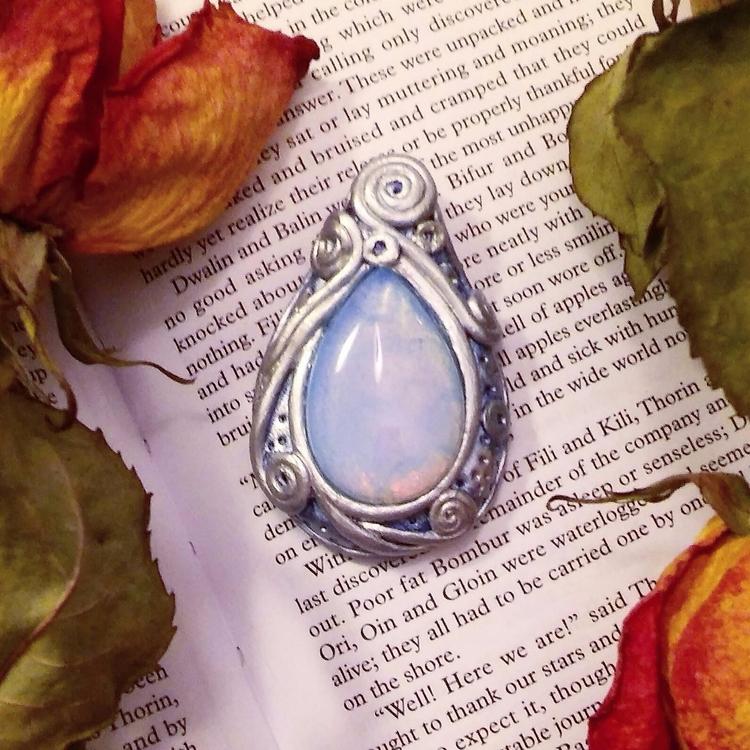 handmade clay pendant opal sold - hyrulian_creations | ello