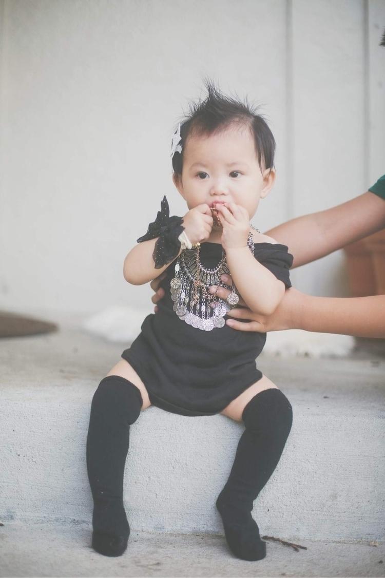 Yaya black dress knee high sock - shineandyayacutielo | ello