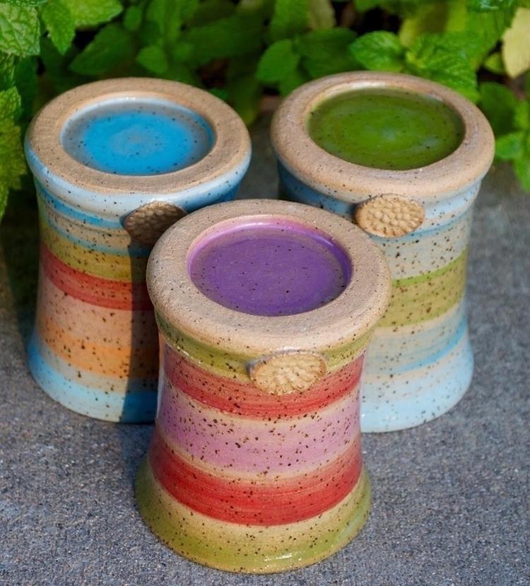 Bottoms - tumblers, colorful, rainbow - brilynnceramics | ello