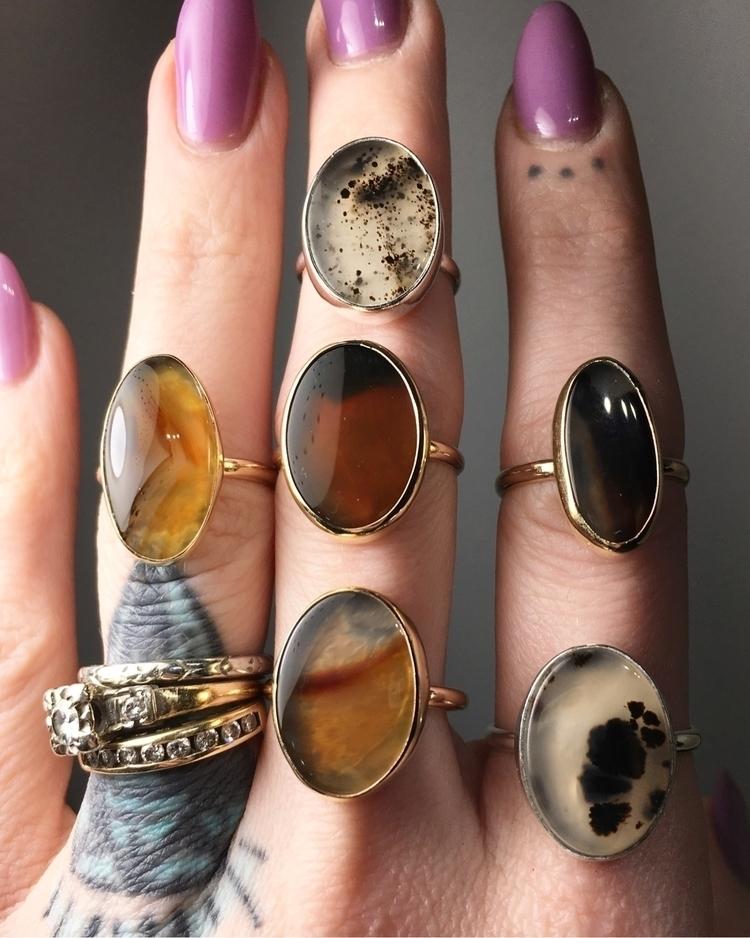 Coming kind Montana agate rings - knotandsplice | ello