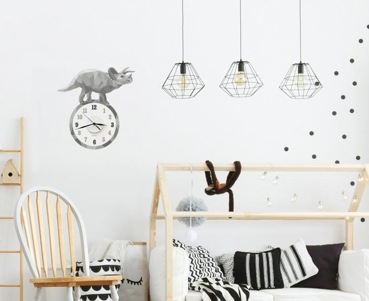 geometric wall decal clocks add - thelittleblah | ello