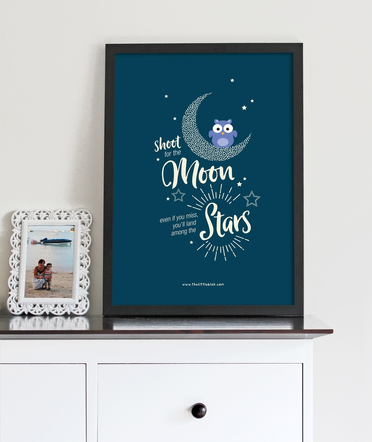 * Shoot moon, land stars - thelittleblah | ello