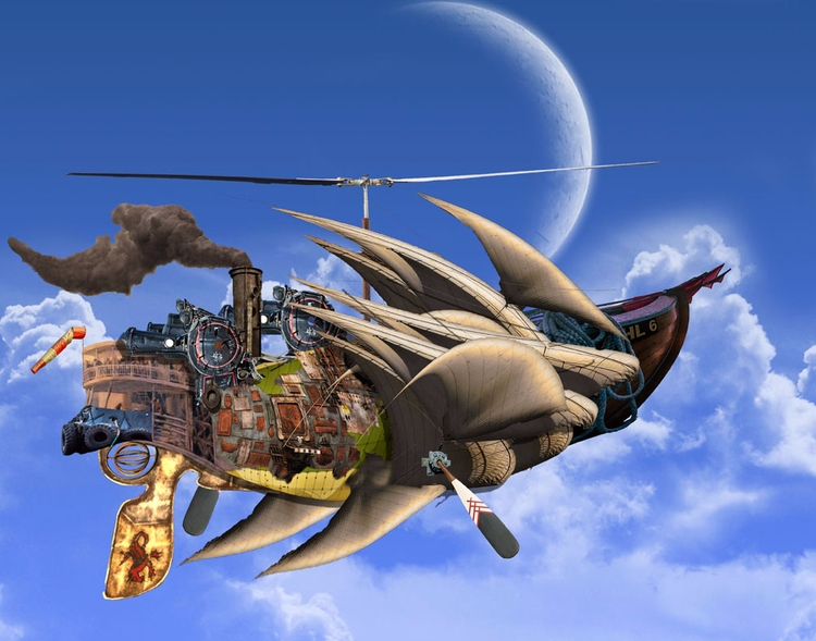 Outerscape Airship (Steampunk - 9 - micheal-epperley | ello