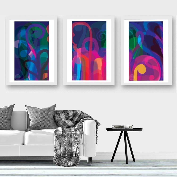LUNAR GARDEN - Triptych: Deligh - emiliofrankdesign   ello