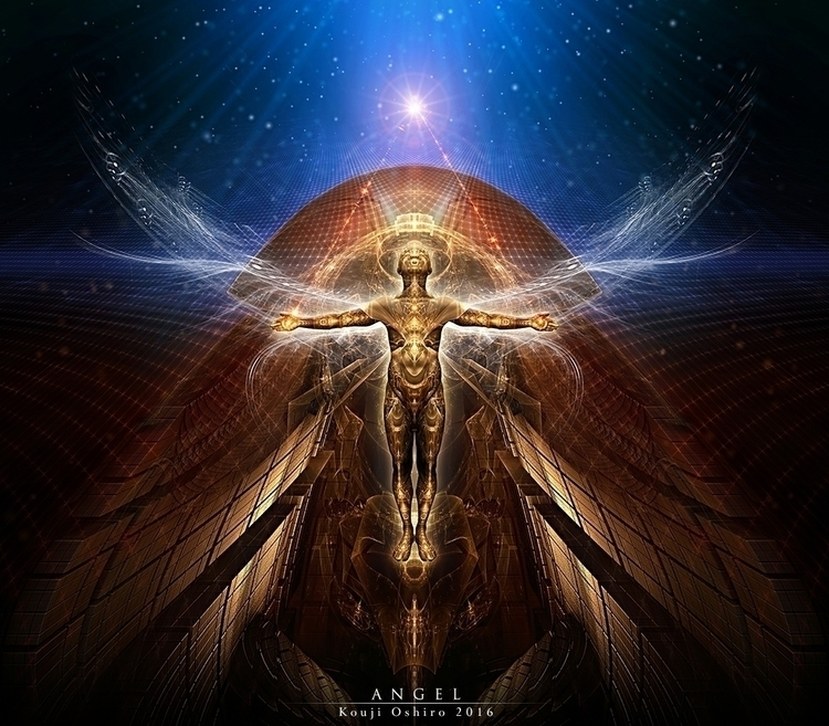 Angel - angel, spiritual, fractal - koujioshiro | ello