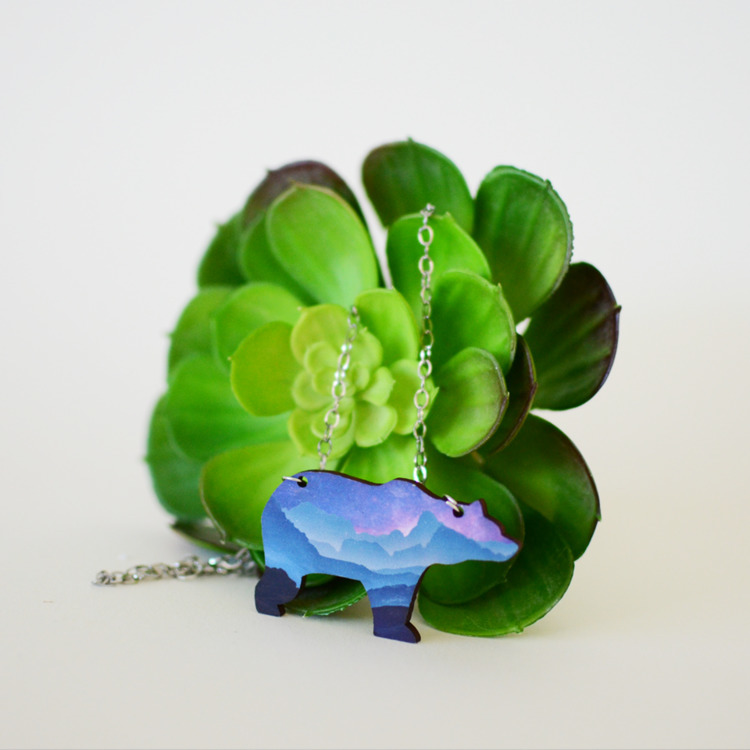 [[ MOON BEAR NECKLACE]] laser c - deerandfox | ello